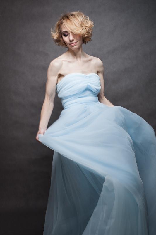 Szyfonowa suknia